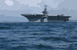 Uss John C. Stennis (cvn 74) Anchored Off The Coast Of San Diego, Calif. Clip Art