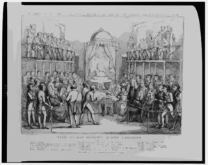 A Sketch Of The Interior View Of The House Of Lords, Representing The Trial Of Her Majesty Queen Caroline  / Drawn By Cruikshanks ; Etched By Roberts. Clip Art