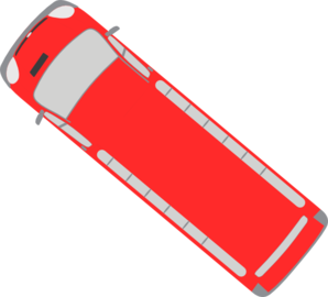 Red Bus - 140 Clip Art
