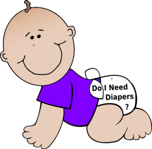 Baby Diapers Clip Art