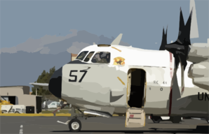 A C-2 Greyhound Assigned To The Clip Art