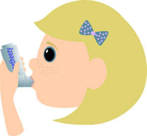 Child With Asthma Clip Art