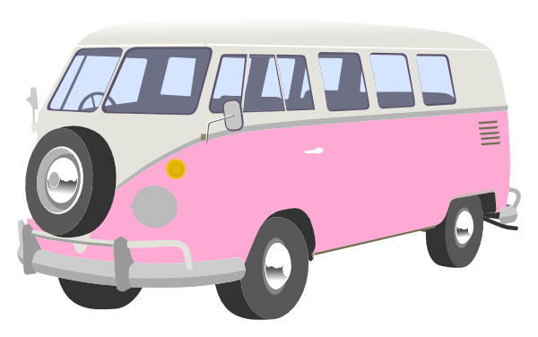 Pink Camper Van Clip Art At Clker