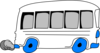 White School Bus Clip Art