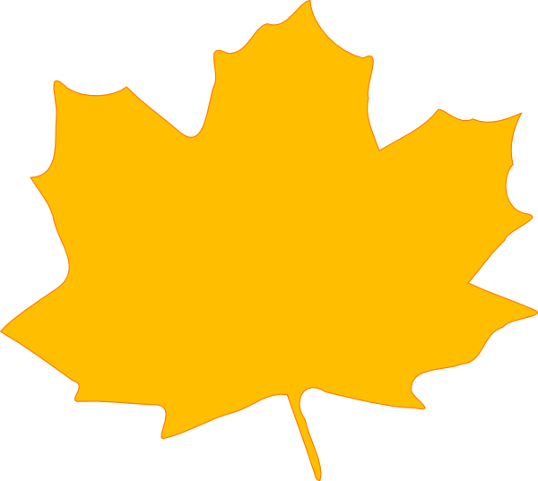 Yellow Fall Leaf Clip Art at Clker.com - vector clip art ...