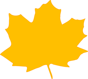 Yellow Fall Leaf Clip Art