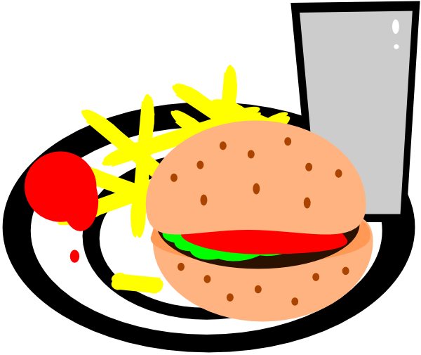 Burger And Fries Clip Art at Clker.com - vector clip art online ...