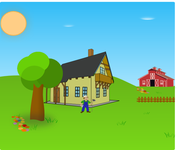 Farm Background Clip Art at Clker.com - vector clip art ...