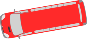 Red Bus - 190 Clip Art