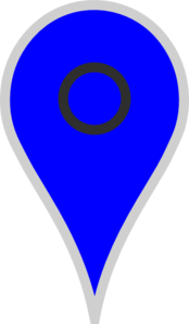 Google Map Pointer Blue Clip Art