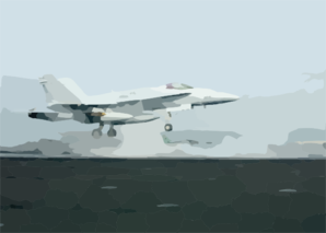 F/a-18 Launches From The Flight Deck Of The Uss George Washington. Clip Art