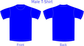 Blue Shirt Template Clip Art