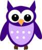 Dark Purple Owl Clip Art