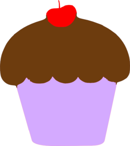 Cupcake With Cherry Clip Art