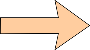 Orange Arrow Without Shadow, Straight Clip Art