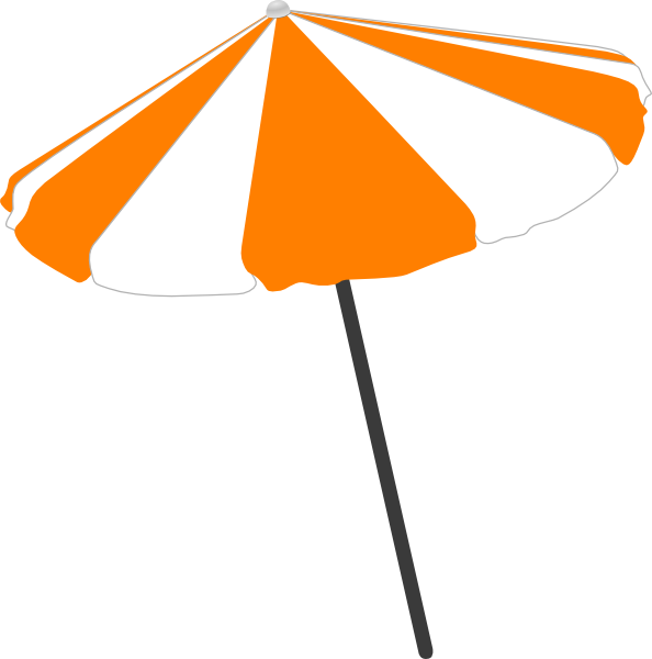 beach umbrella clip art at clker - vector clip art online