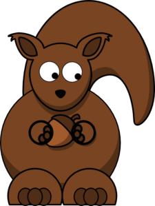 Squirrel Looking Right-down Clip Art