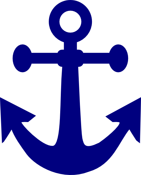 dark navy anchor clip art at clker com vector clip art online rh clker com