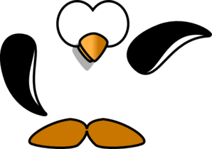 Penguin Up Clip Art