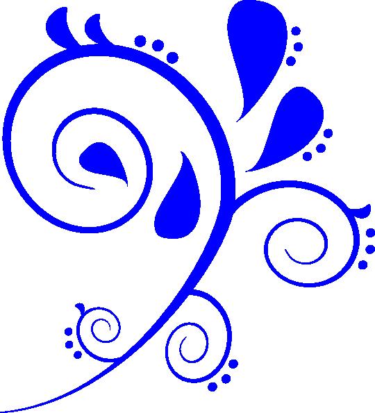 Blue Swirl Clip Art at Clker.com - vector clip art online, royalty ...