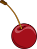 Cherry With Stem Clip Art