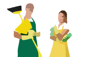 Man And Woman Cleaning Clip Art