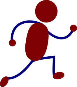 Running Figure Red Clip Art