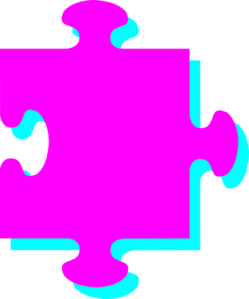 Pink Turquoise Puzzle Clip Art