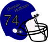Blue Football Helmet Clip Art