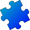 Dark Blue And Light Blue Puzzle Piece - Small Clip Art