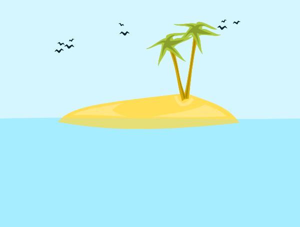 Tropical Island Clip Art at Clker.com - vector clip art ...
