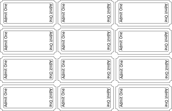 Blank Ticket Template Printable