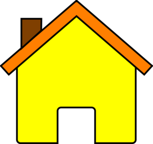 Yellow House 2 Clip Art