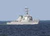 The Arleigh Burke-class, Guided Missile Destroyer Uss Ross (ddg 71) Steams Through The Baltic Sea During The Annual Maritime Exercise Baltic Operations 2003 (baltops) Clip Art