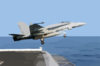 An F/a-18c Launches From One Of Four Steam-powered Catapults On The Ship S Flight Deck Clip Art