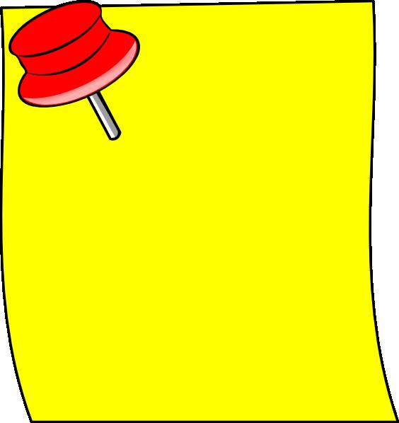 Post It Clip Art at Clker.com - vector clip art online ... - photo#49