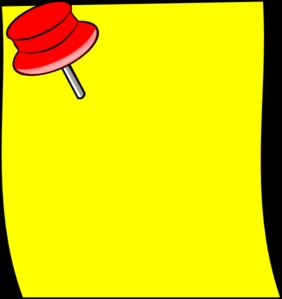 Post It Clip Art at Clker.com - vector clip art online ... - photo#43