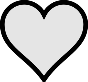 Very Small Gray Heart With Transparent Background Clip Art