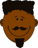 Black Man With Face Hair Clip Art