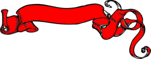 Red Banner Scroll Clip Art