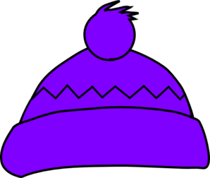 Purple Winter Hat Clip Art
