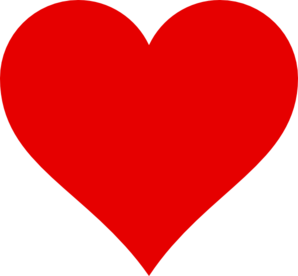 Simple Red Heart Clip Art