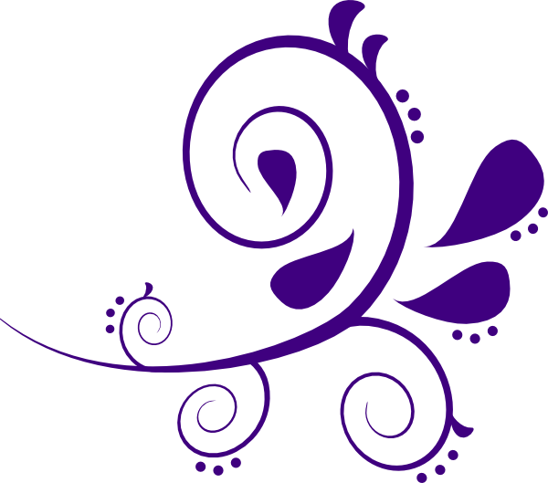 Purple And White Swirl Branch Clip Art at Clker.com ...