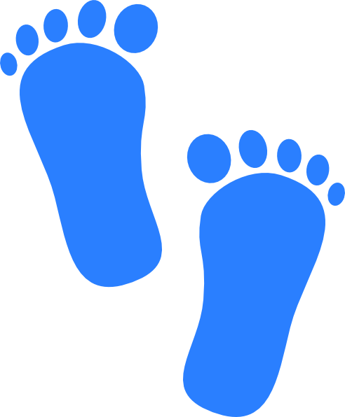 Baby Boy Footprints Clip Art at Clker.com - vector clip ...