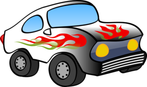 Cartoon Hot Rod Clip Art