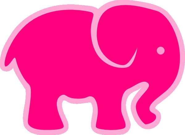 Pink On Pink Elephant Clip Art at Clker.com - vector clip art online ...