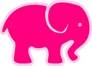 Pink On Pink Elephant Clip Art