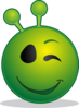 Smiley Alien Clip Art