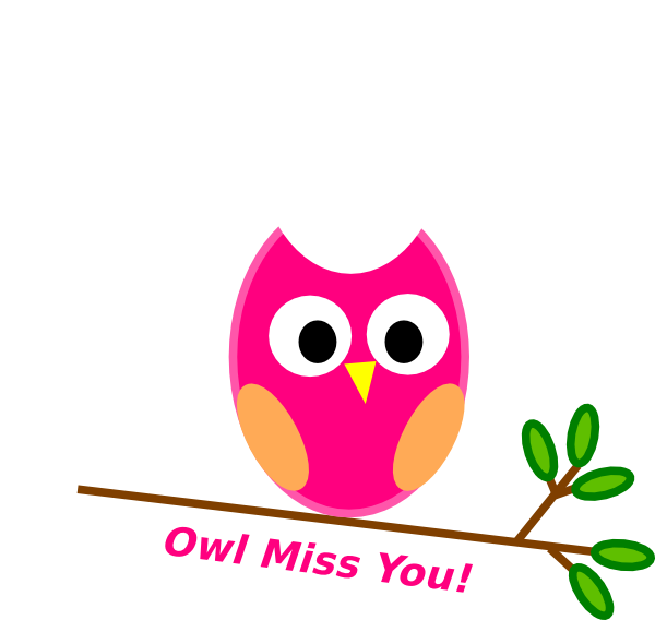 owl miss you clip art at clker com vector clip art online royalty rh clker com we miss you clip art will miss you clip art