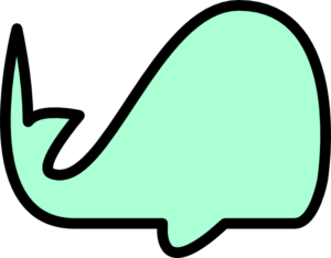 Surfer Green Whale Clip Art